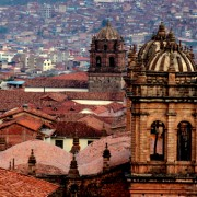 19 Church bell towers pierce the skyline of the city